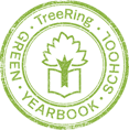 TreeRing Green Yearbook School badge